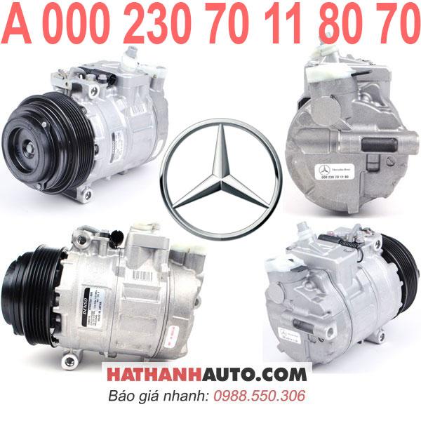 A000230701180-máy nén lốc lạnh 00023070118070 xe Mercedes CL500 CLK430 SLK230 E300