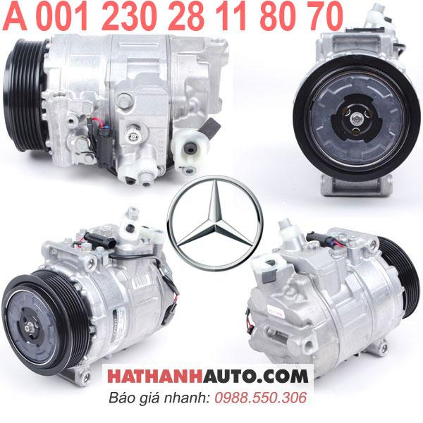 A001230281170-lốc lạnh máy nén 00123028118070 xe Mercedes C240 ML350 S500 ML55 AMG