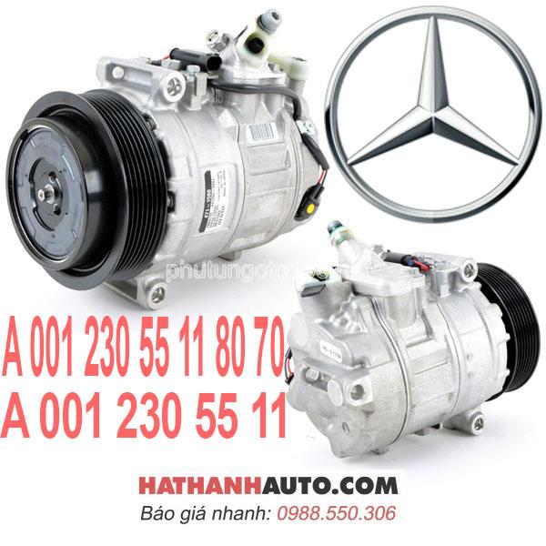 A0012305511-máy nén lốc lạnh 00123055118070 xe Mercedes C230 Kompressor